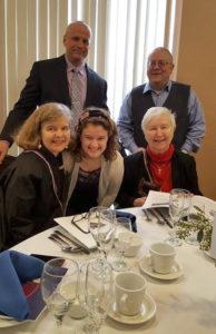 Su šeima mano senelio vardu įsteigtos Vydūno fondo stipendijos pranešimo proga. Čikaga, 2017 m.