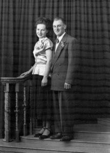 Antanas ir Alice Šatūnai vestuvių dieną 1950 m.