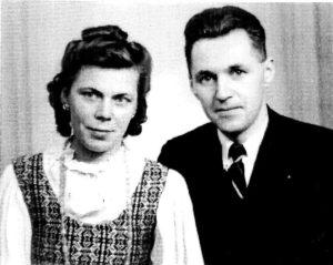 Juozas ir Marija Plačai Švedijoje, 1948 m.