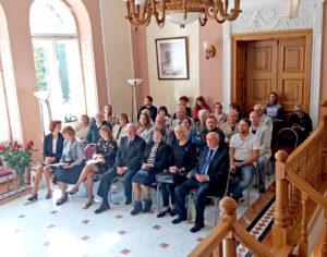Jubiliejinės dailininko Antano Lipskio parodos atidarymas vyko įspūdingoje Oginskio rūmų aplinkoje.