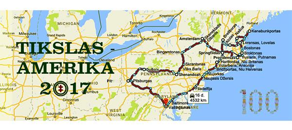 """Projekto """"Tikslas – Amerika"""" komanda aplankė 11 Rytų pakrantės valstijų ir pamatė per 300 lietuviškų objektų."""