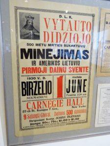 Daugybė eksponatų liudija apie Amerikos lietuvių indėlį.