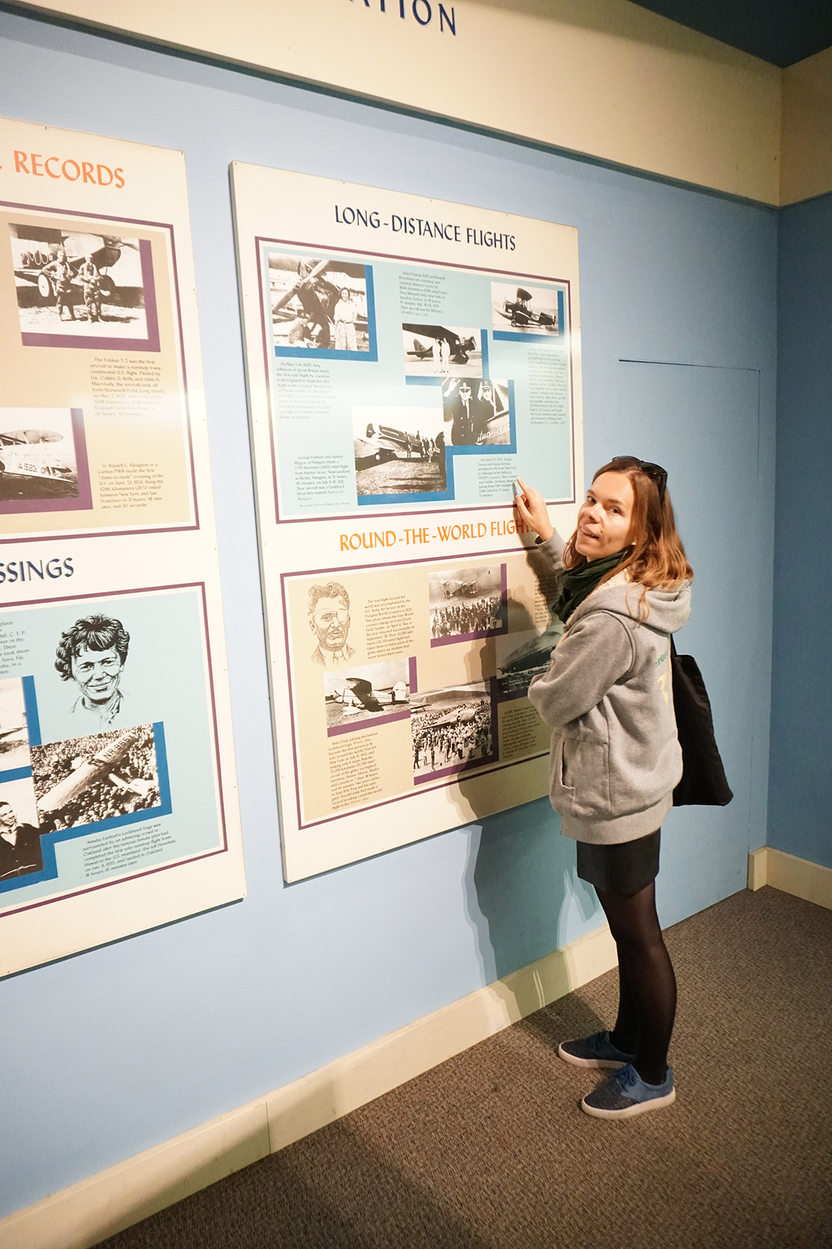 Smithsonian aviacijos muziejuje Aistei Žemaitienei pavyko rasti Stepono Dariaus ir Stasio Girėno nuotrauką.
