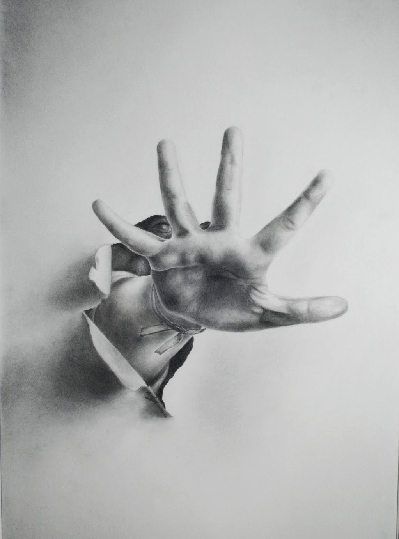 """Piešinys """"Prasiveržimas"""" (""""Breaking Through""""), kuris Eglei Keturakytei 2013 metais padėjo laimėti 3–ią vietą kasmetiniame JAV Kongreso meno konkurse."""