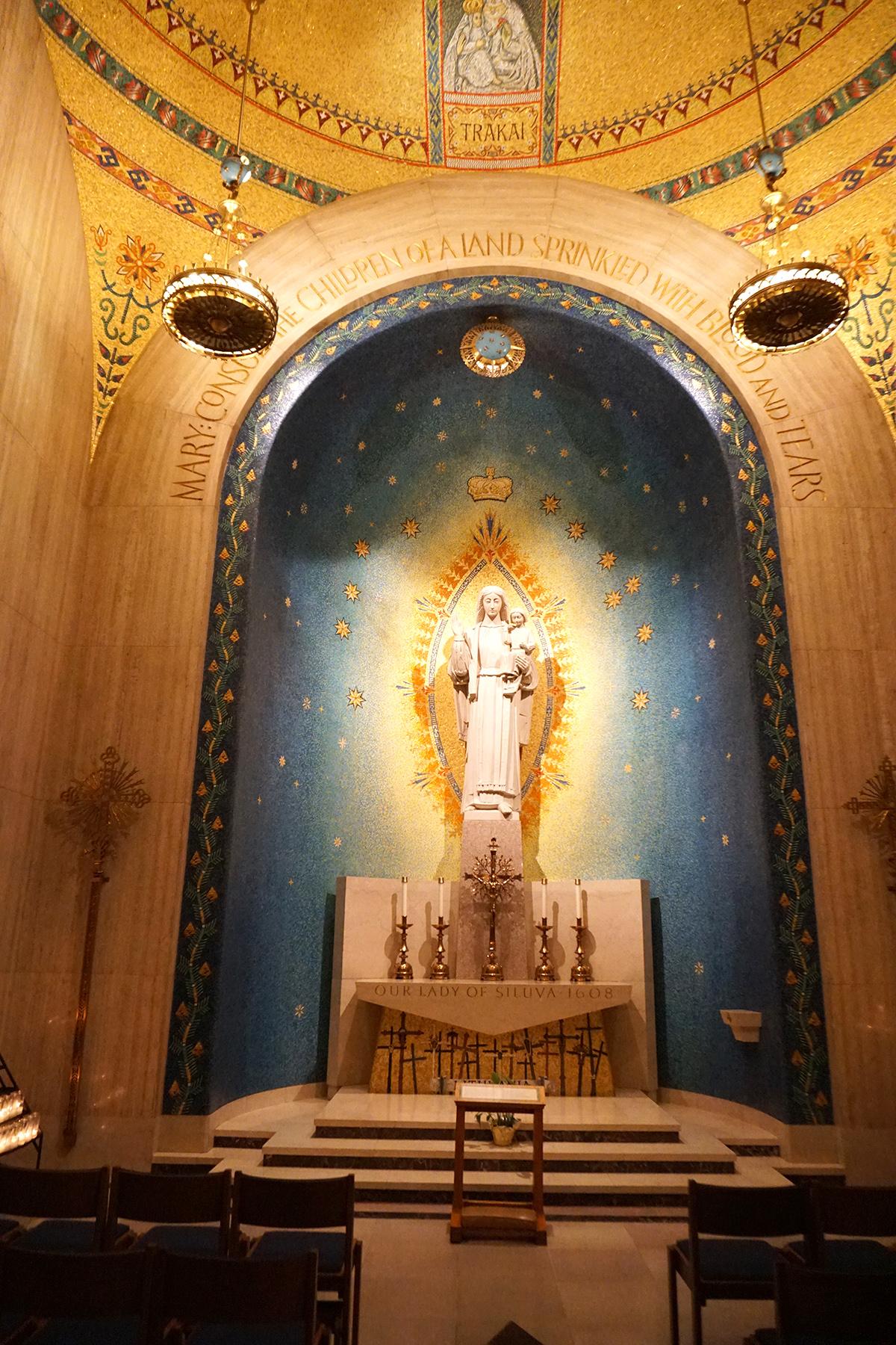 Šiluvos koplyčia Nacionalinėje Nekaltojo prasidėjimo bazilikoje Washington, DC.