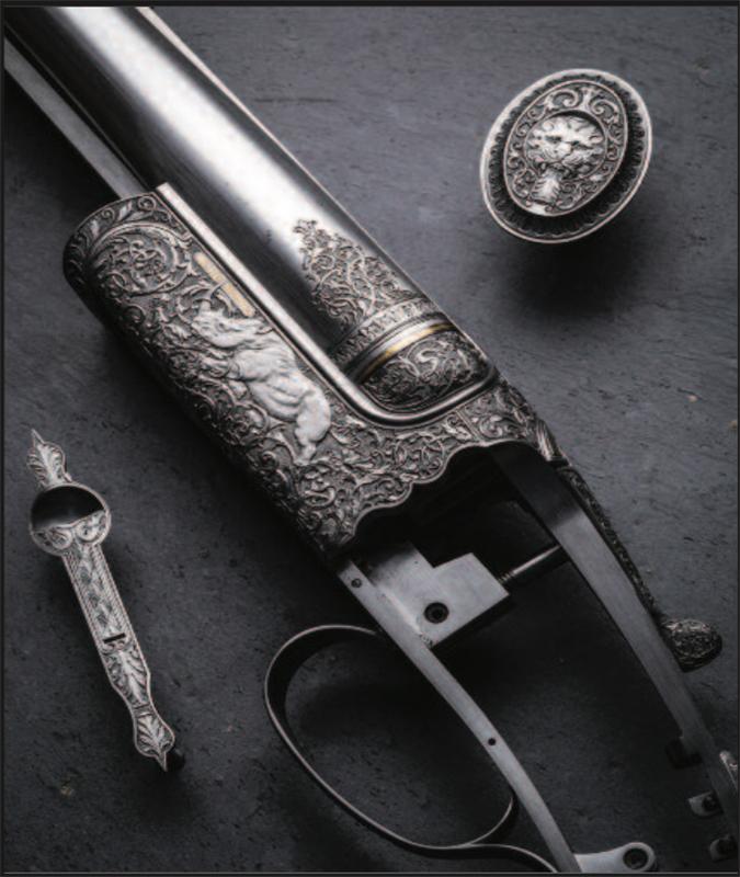 P. Lantucho puošti ginklai.