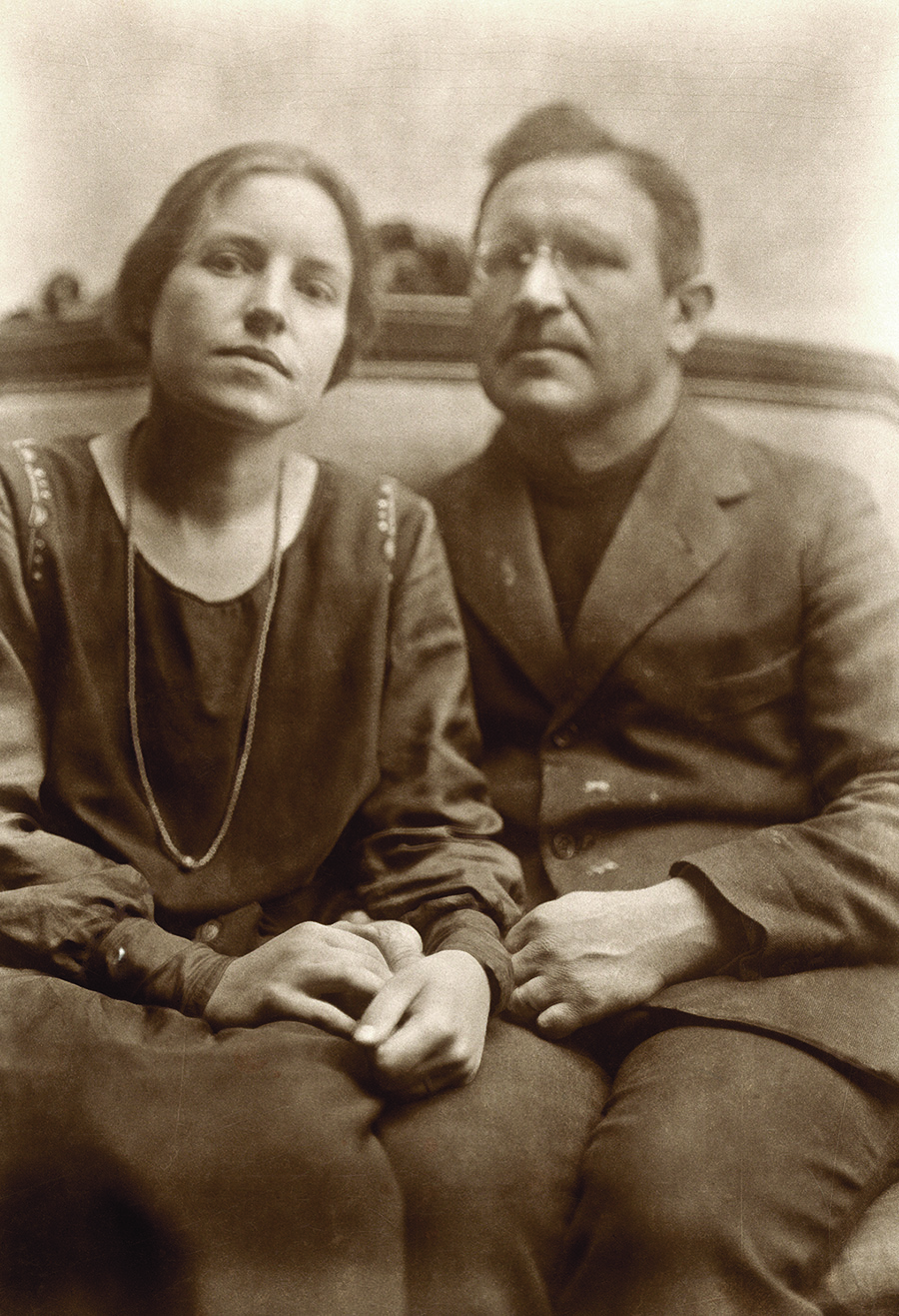Pranas Domšaitis su žmona Adelheide.