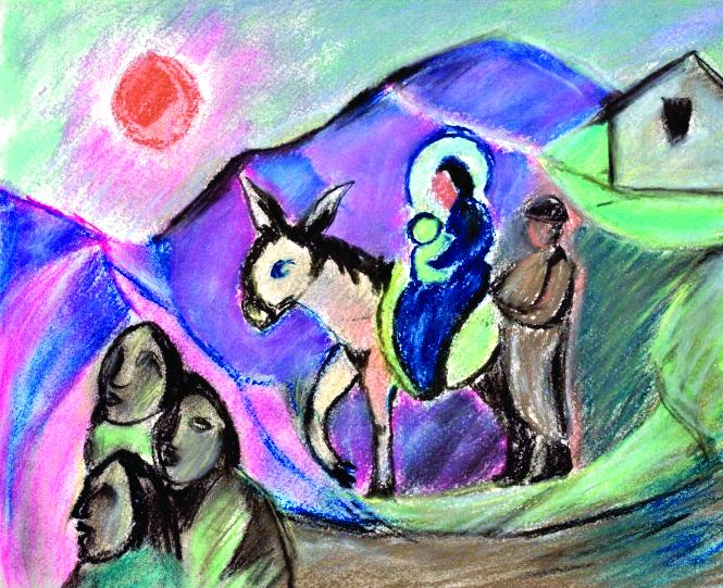 Pranas Domšaitis. Bėgimas į Egiptą