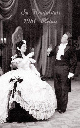 "Naujametinė ""Traviata"" 1981 m. Alfredas – Virgilijus Noreika, Violeta – Irena Milkevičiūtė."