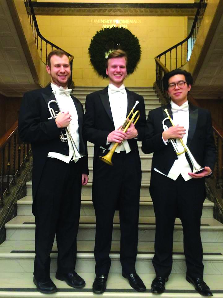Su kolegomis Eastmane po koncerto (kairėje John Fatuzzo, dešinėje Victor Yuen).