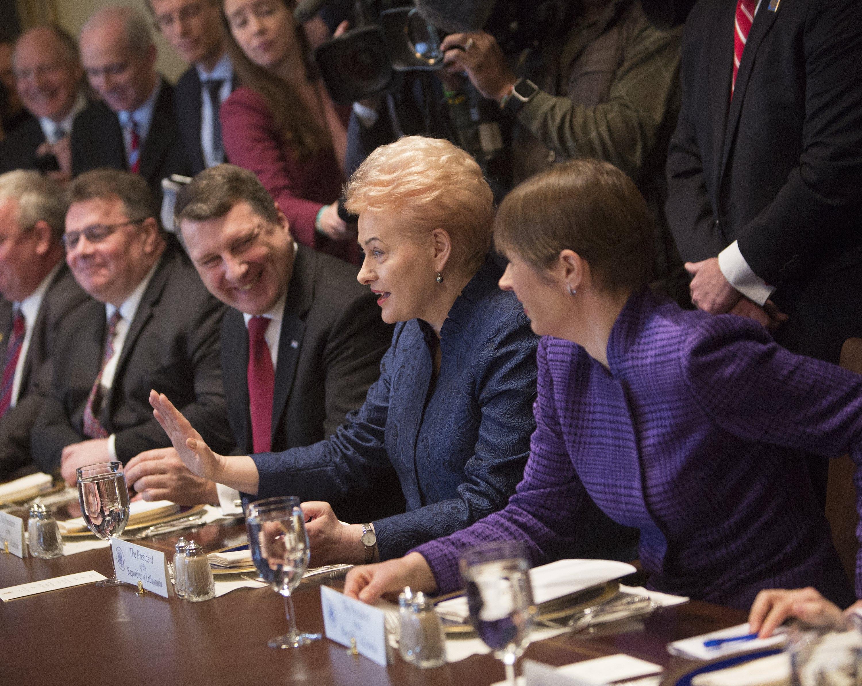 Baltijos šalių prezidentai diskusijos metu.