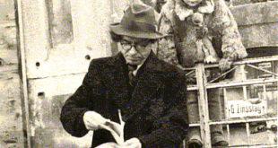 """Bern. Brazdžionis su dukra Saule Ravensburge. Paštu gavęs eilėraščių rinkinio """"Šiaurės pašvaistė"""" korektūras. 1948 m. sausio 11 d."""