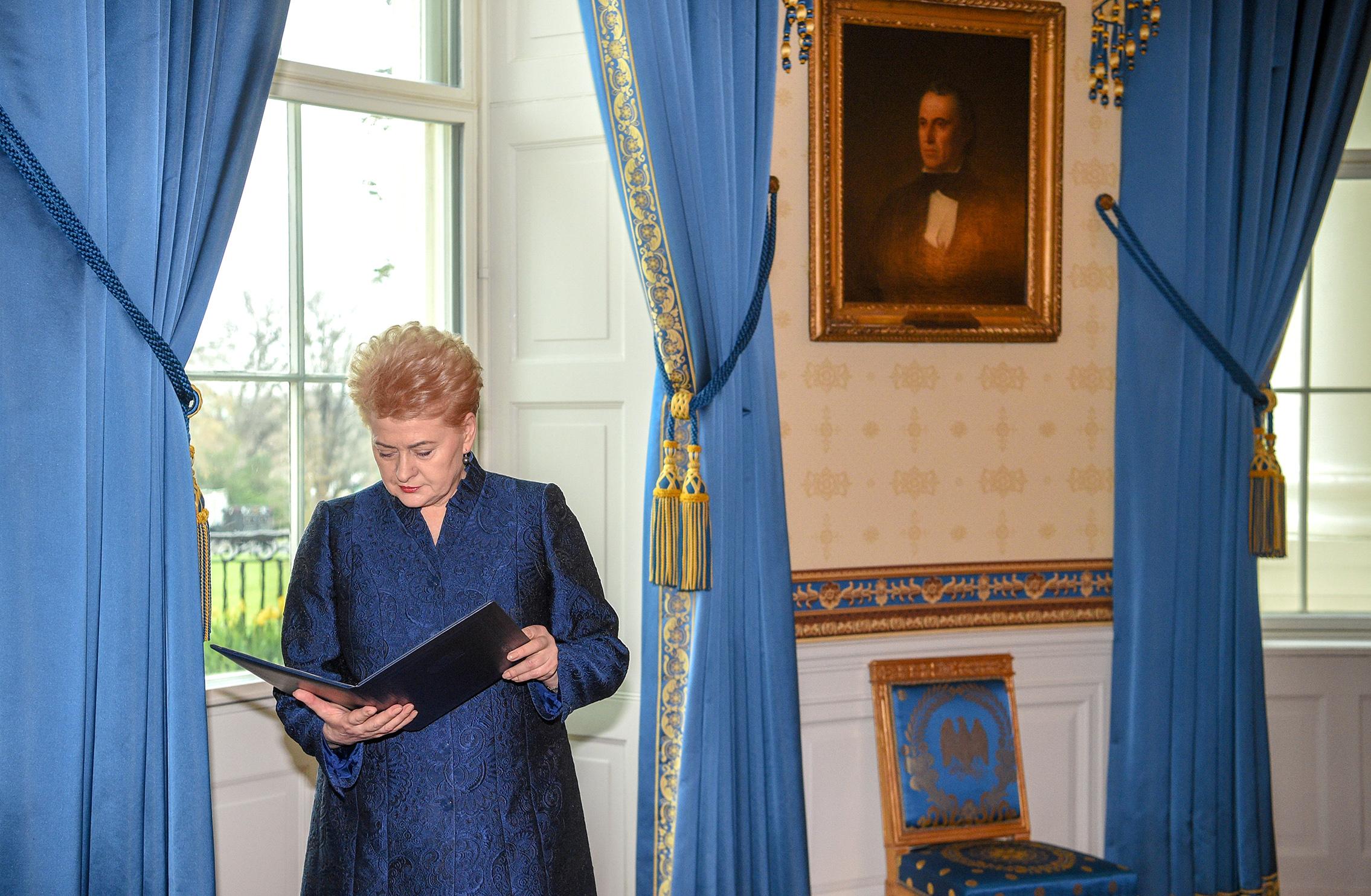 Prezidentė Dalia Grybauskaitė.
