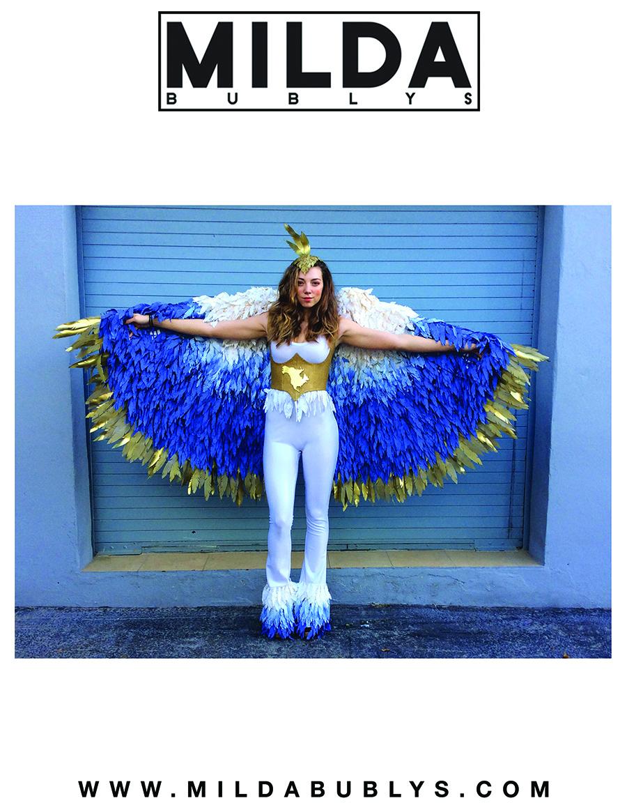 Nuotrauka iš Mildos kostiumų dizaino portfolio.