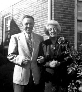P. Skardžius su S. Smetoniene Clevelande 1956 m.