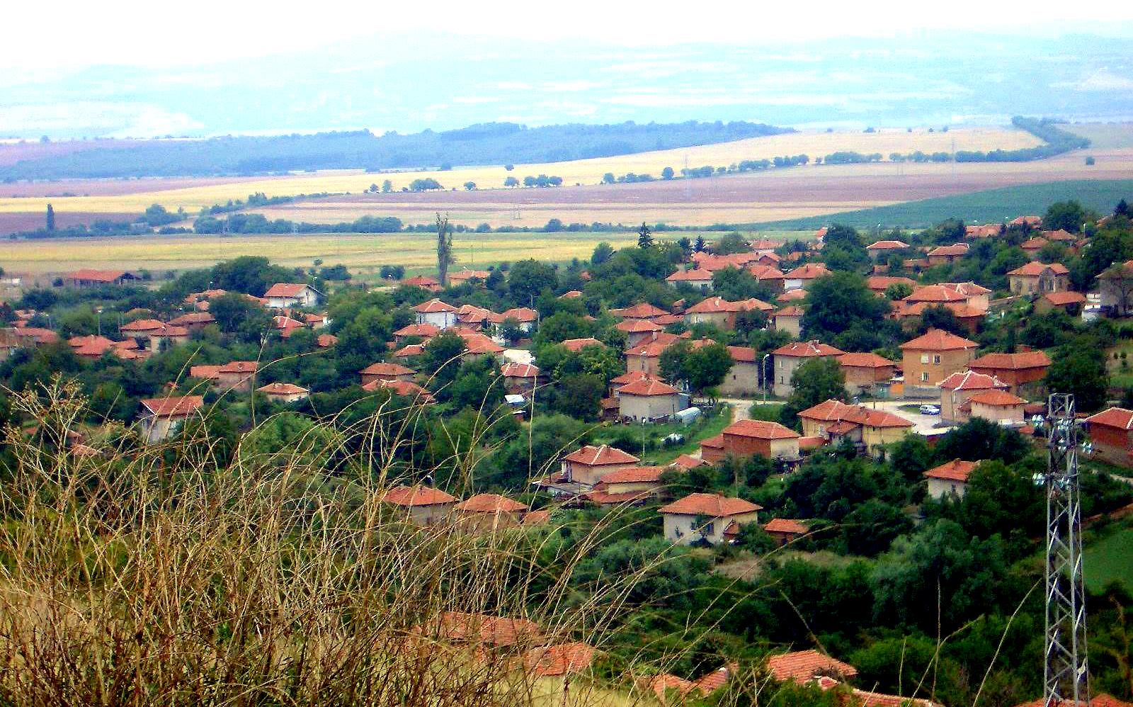 Lovech provincijos Slavyani kaimo panorama.