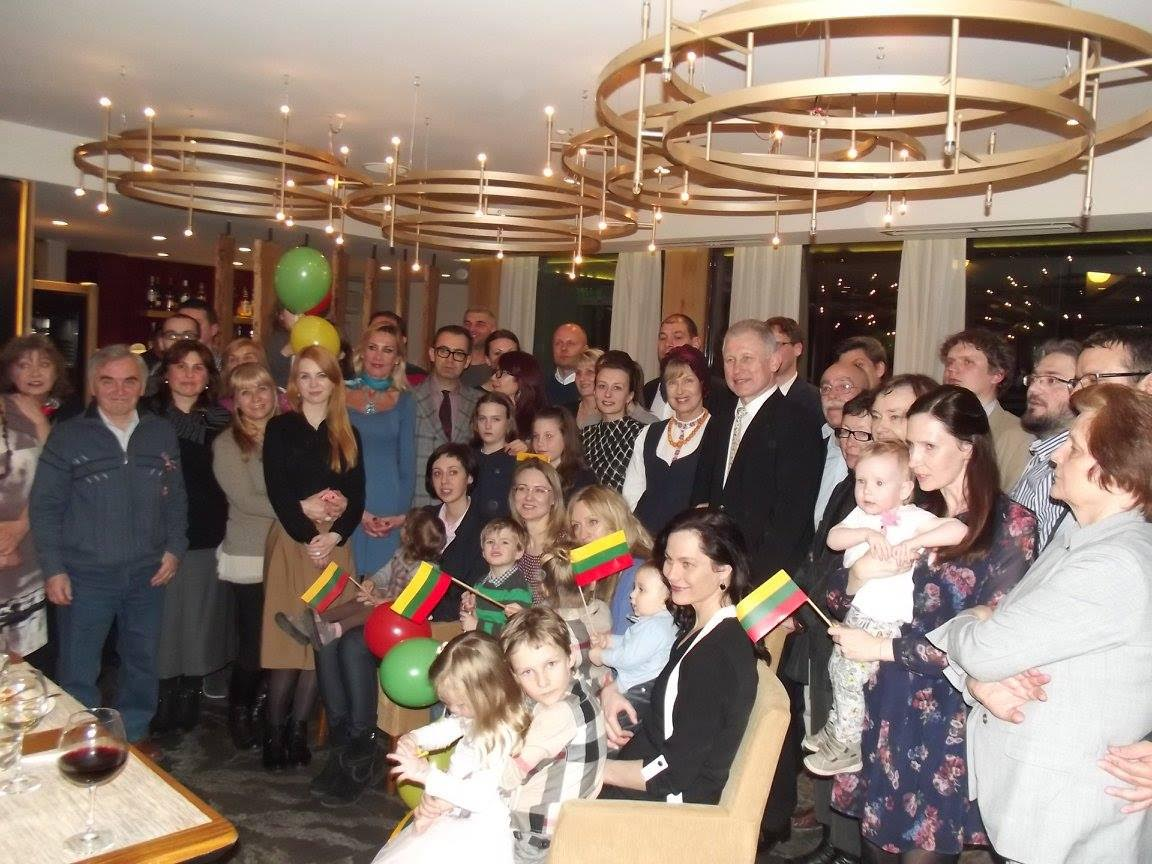 Bulgarijos lietuviai švenčia Kovo 11-ąją.
