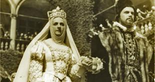 "Kadras iš Jozefo Lejteso filmo ""Barbora Radvilaitė"", 1936 m. Barboros vaidmenį atlieka Jadvyga Smosarska."