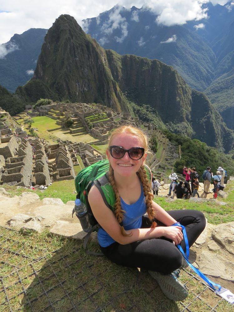 Savanorystės misijos metu 2016 m. Peru Austėja spėjo aplankyti ir inkų tvirtovės Machu Picchu griuvėsius.
