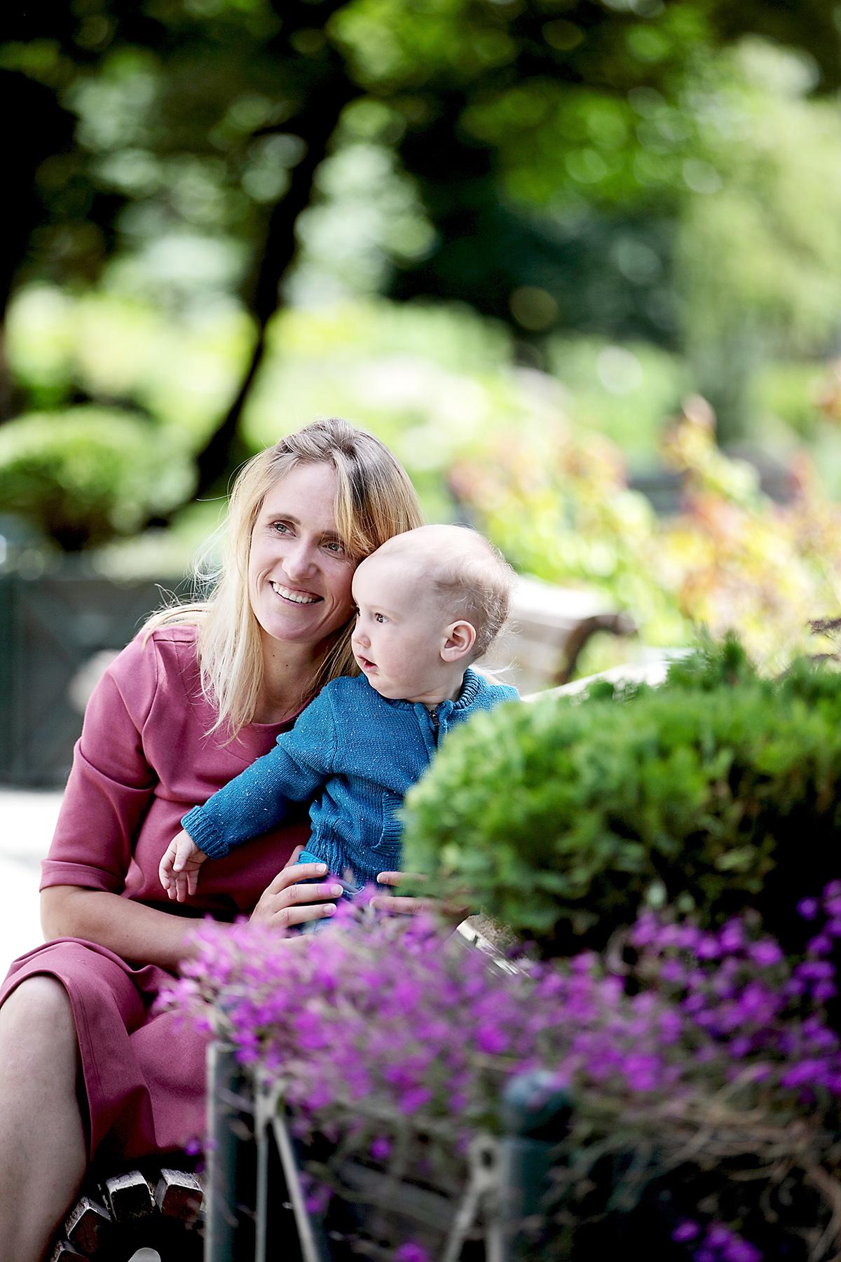 Rasa Kuzmaitė su sūneliu.