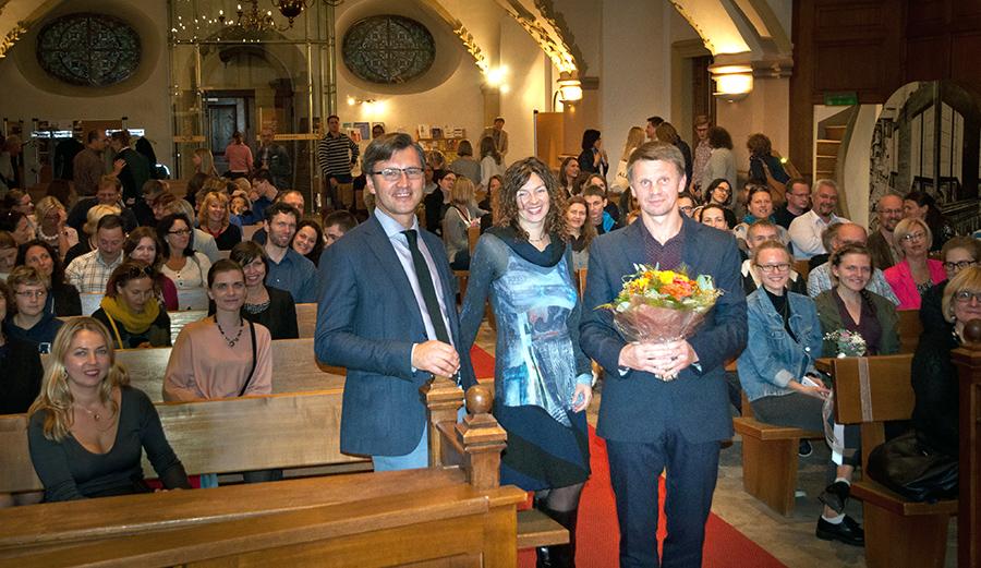 Liuksemburgo Lietuvių Bendruomenė susitikime su Rolandu Kazlu.