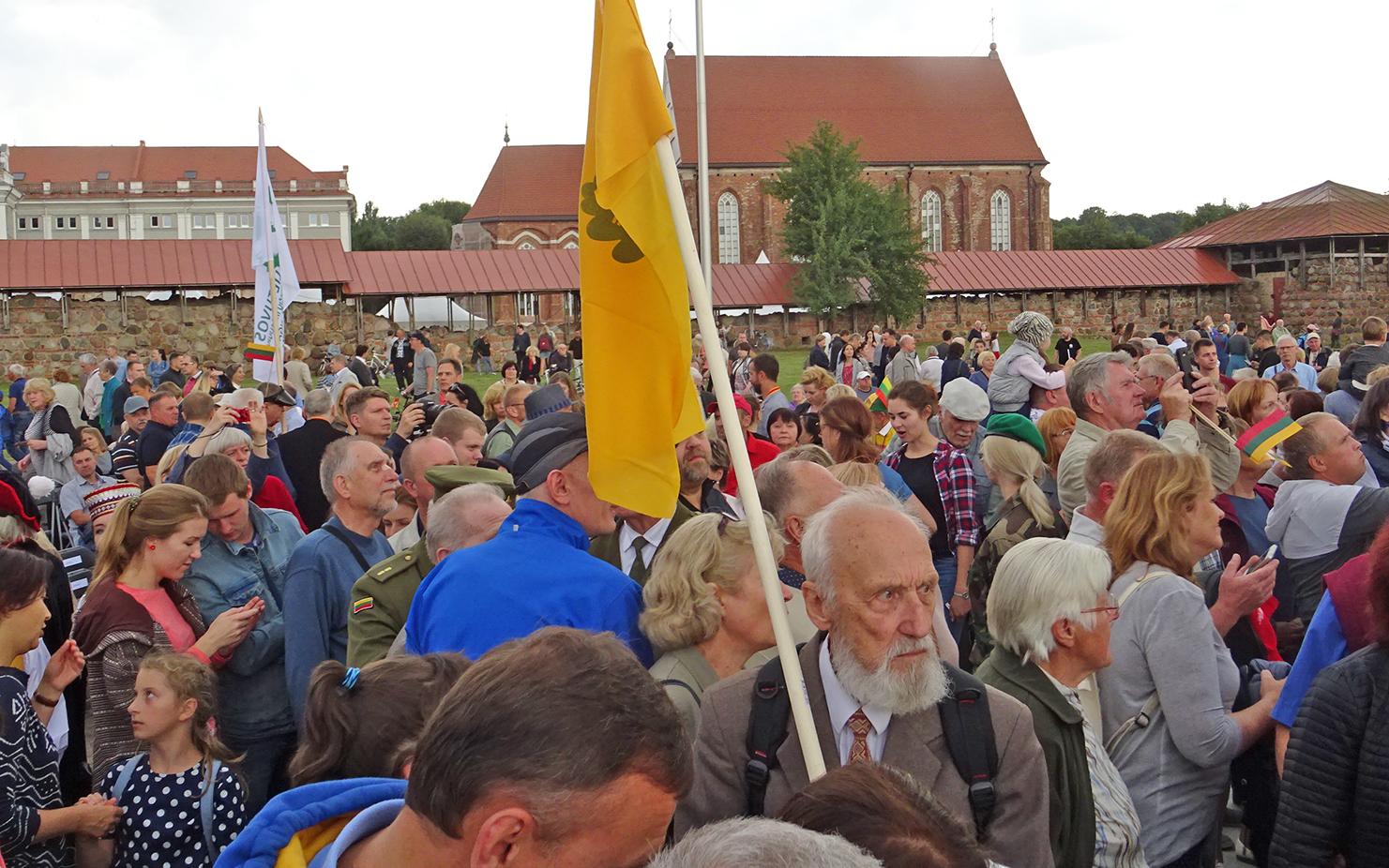 Į paminklo atidarymą atvyko ir iškilmėse dalyvavo tūkstančiai kauniečių bei dalyvių iš kitų Lietuvos miestų ir užsienio.