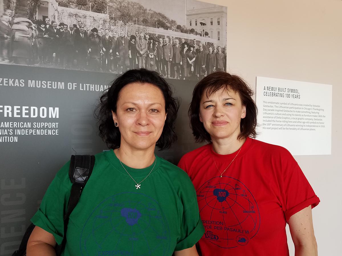 Miglė Greičiuvienė (k.) ir Genovaitė Kynė jau ne pirmą kartą drauge keliauja po pasaulį buvusiais K. Pakšto maršrutais.