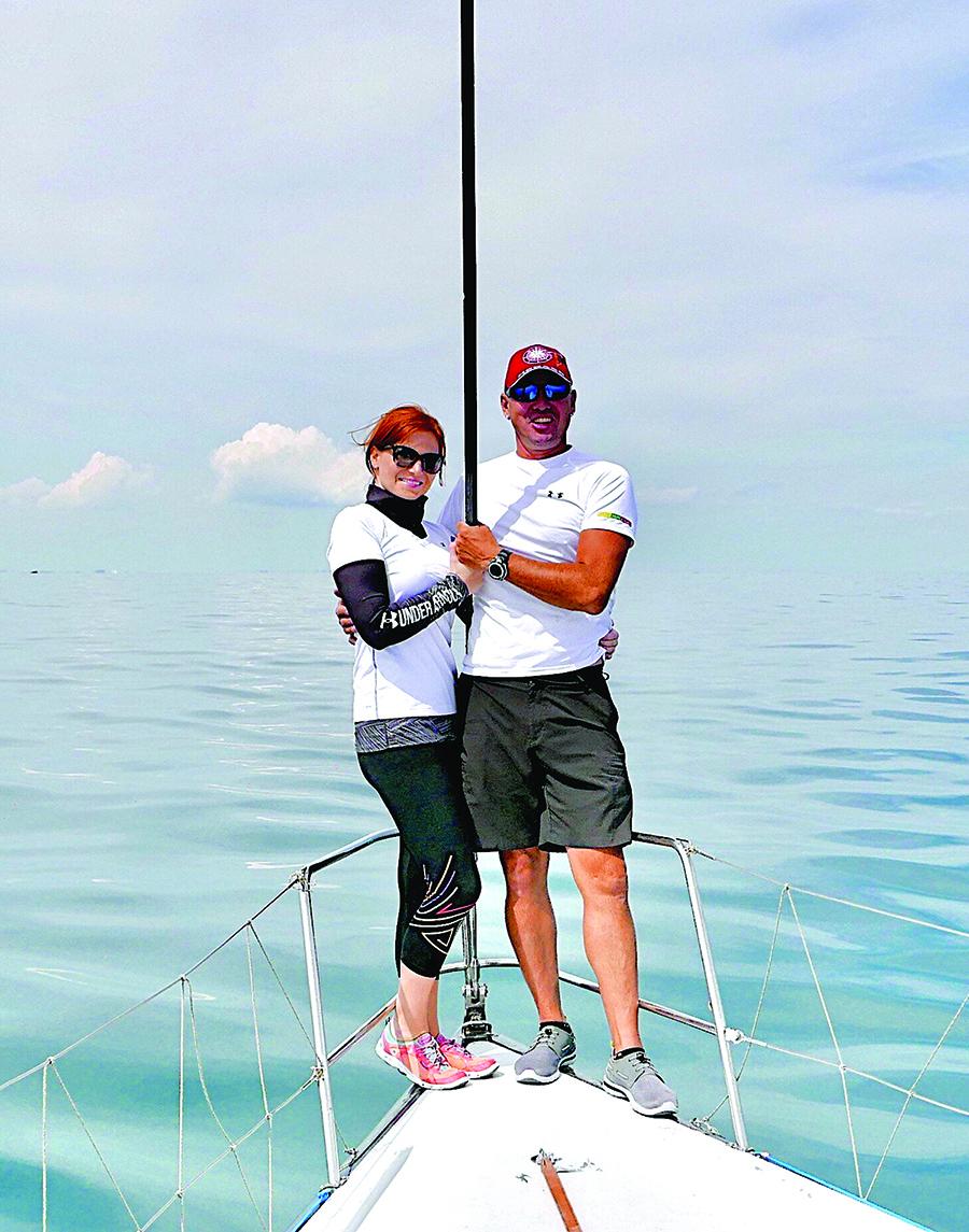 Arūnas ir Gintarė Kubelskai – puiki komanda ir šeimoje, ir jachtoje.