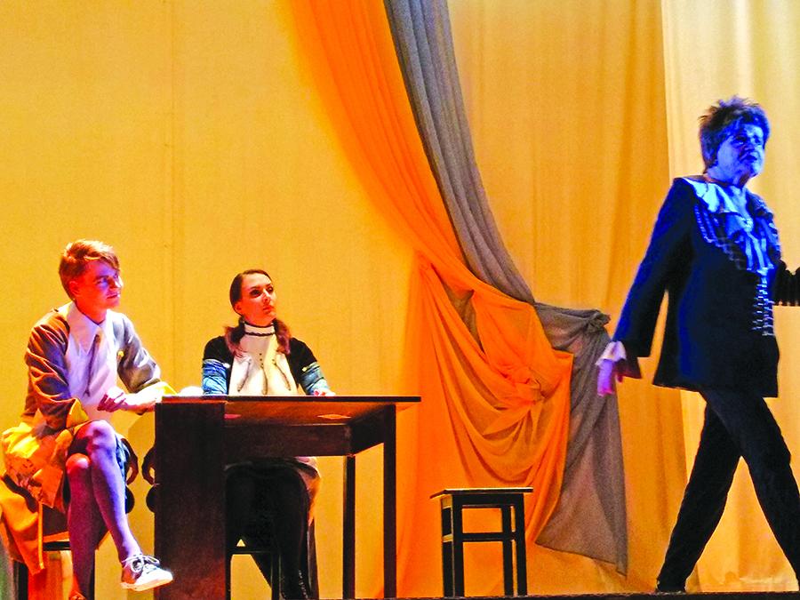 "Spektaklio ""Shalom, Bellissima!"" akimirka."