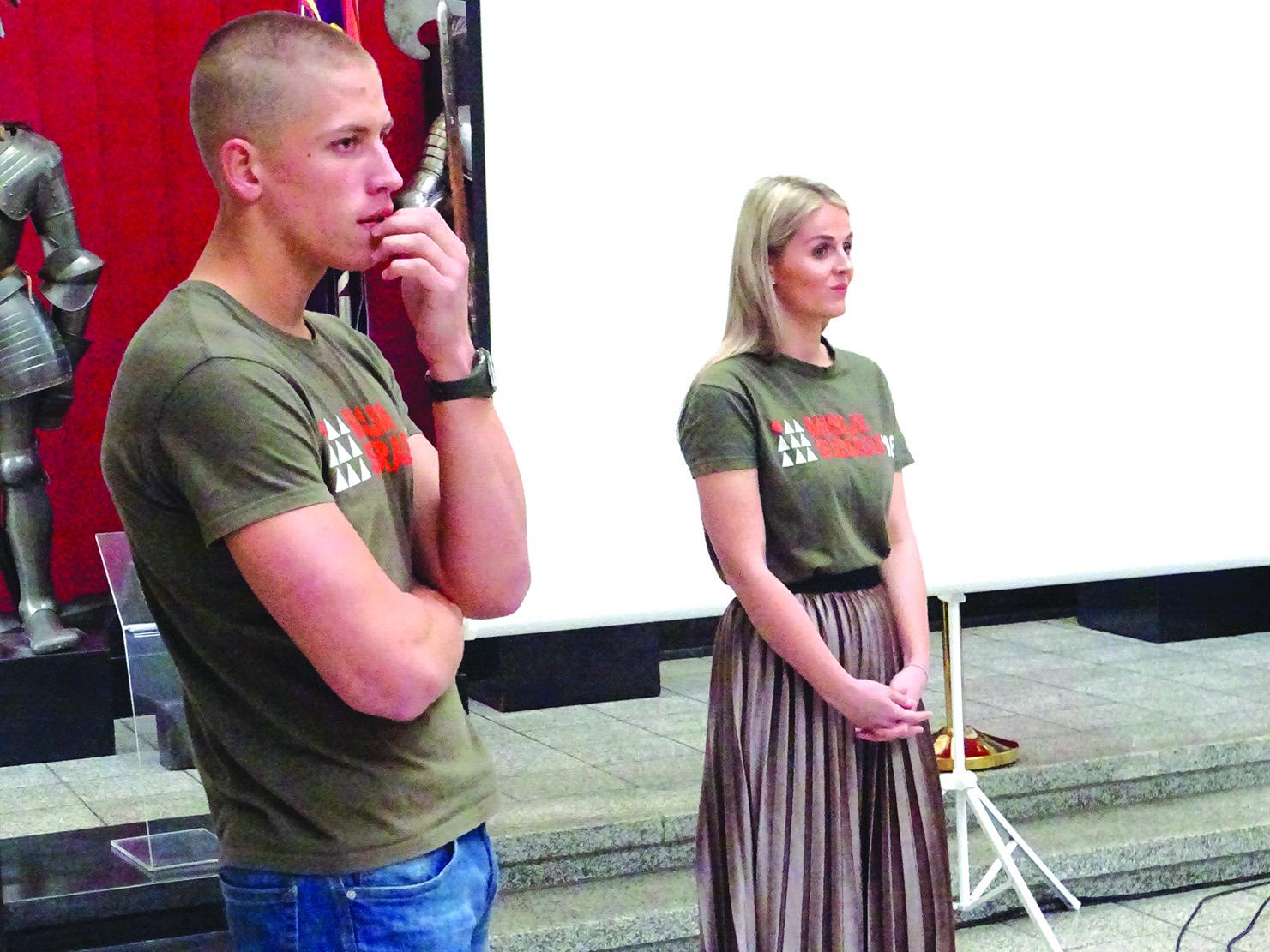 R. Šarkus ir A. Pociūtė sakė, kad šioje misijoje įgijo neįkainojamos patirties.