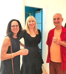 Iš k.: Ann Capeci, rašytoja ir leidėja, Kristina Juzaitis, menininkė, ir Johnathan Fabricant.