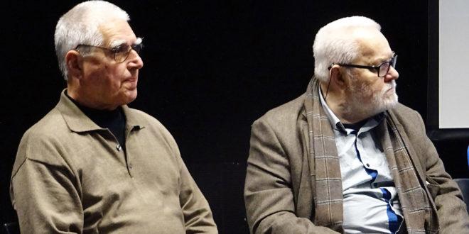 A. Sutkus (d.) ir J. Dovydėnas – ilgamečiai bičiuliai.