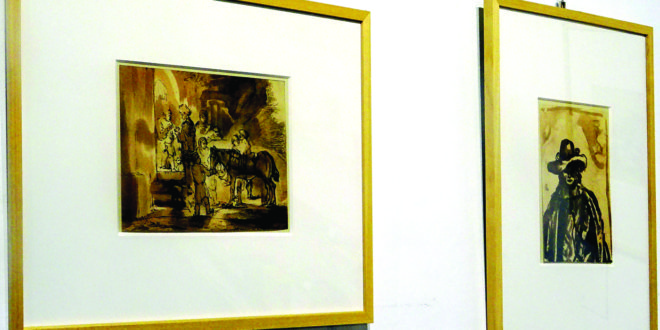 Rembrandt piešiniuose – įvairūs siužetai.