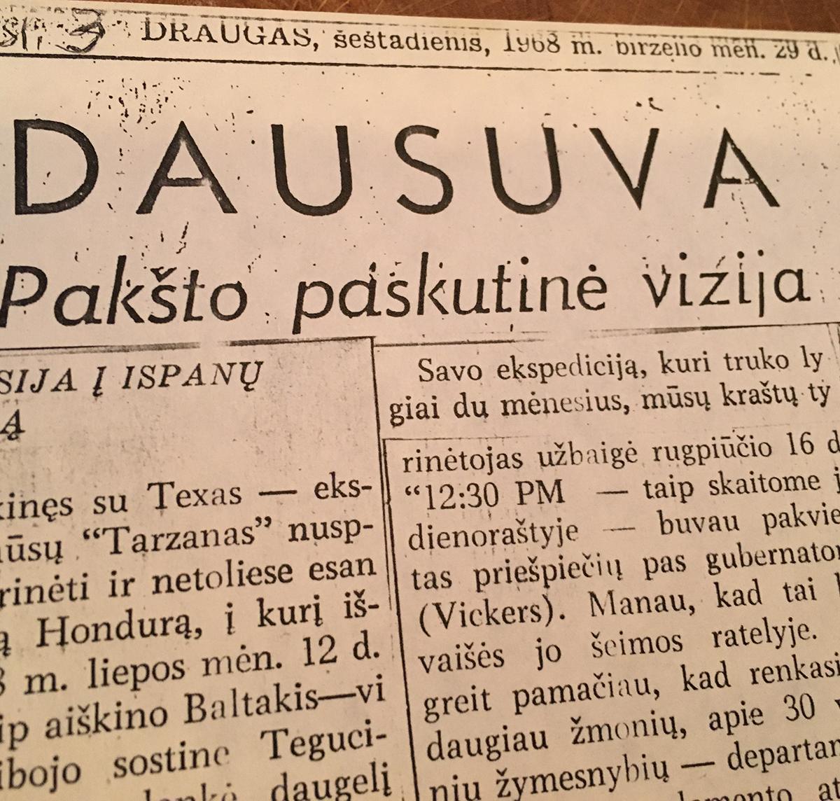Straipsnis apie Dausuvą.