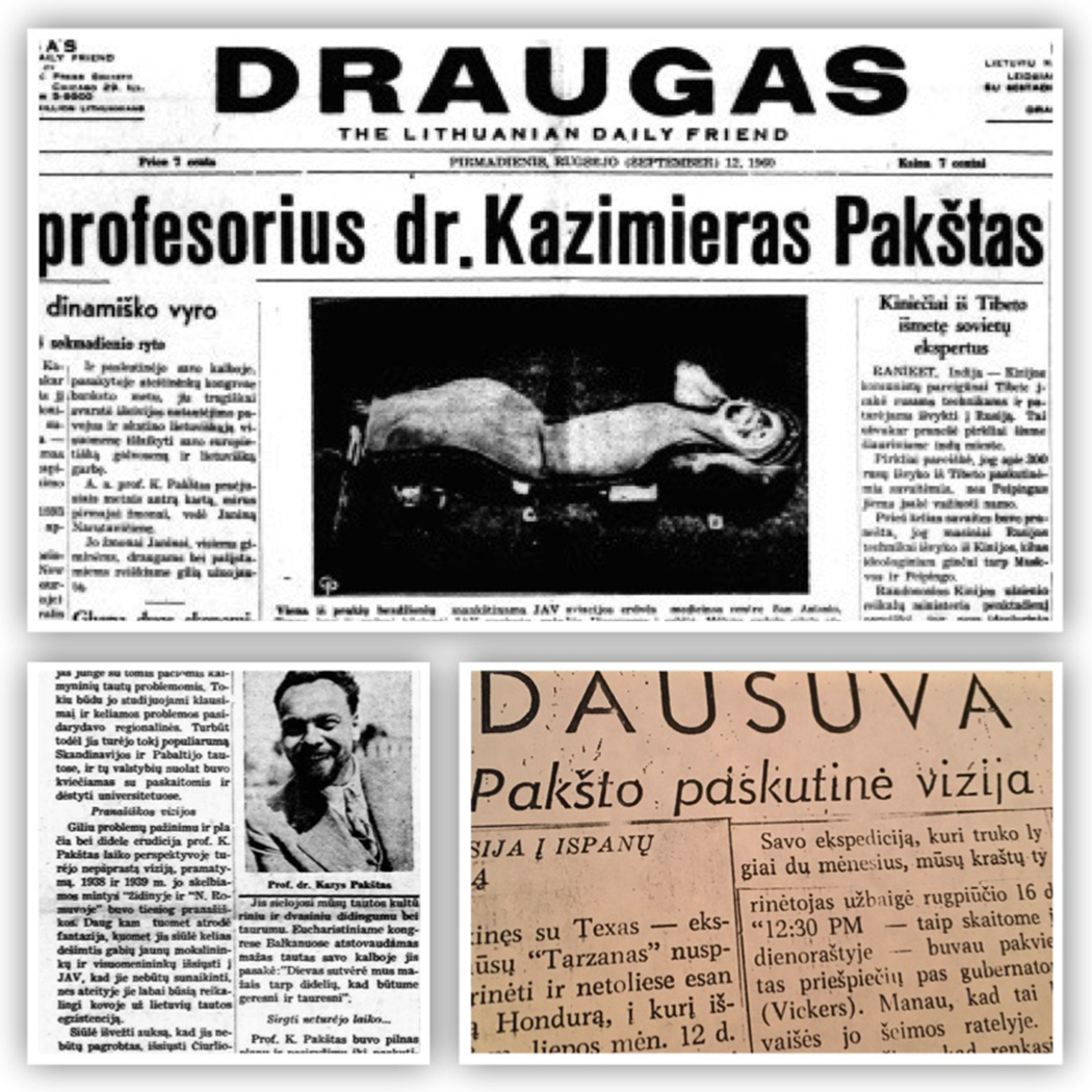 """""""Draugo"""" 1968 metų birželio mėnesio 29 dienos numeryje straipsnis apie Dausuvą, kurią regėjo kaip laikiną Lietuvos emigracijos vietą vizionierius geopolitikas Kazimieras Pakštas."""