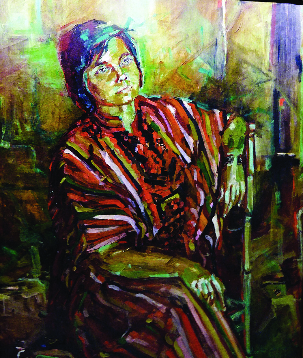 Leeka Gruzdeff. Dailininkės Evos Kubbos portretas, 1977 m.