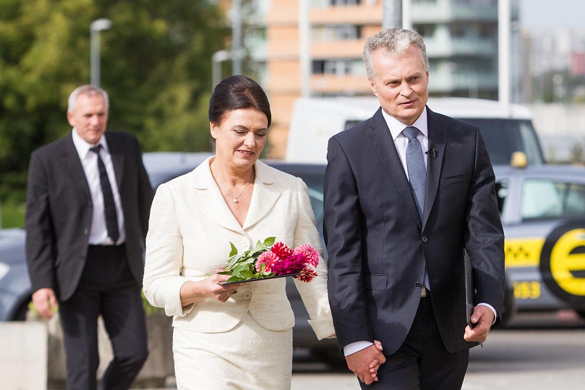 Gitanas Nausėda su žmona Diana.