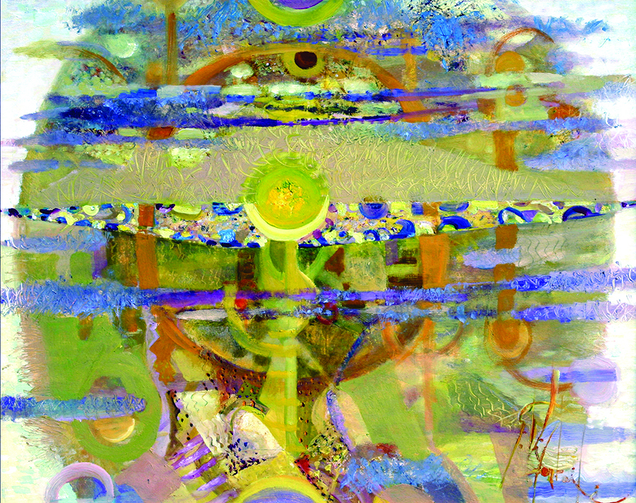 Geltona šviesa. 2005.Drobė, aliejus. 82x100.