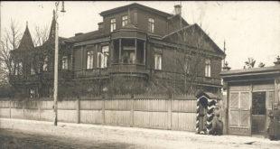 Istorinėje nuotraukoje – Tilmansų vila buvusioje Smėlio gatvėje.
