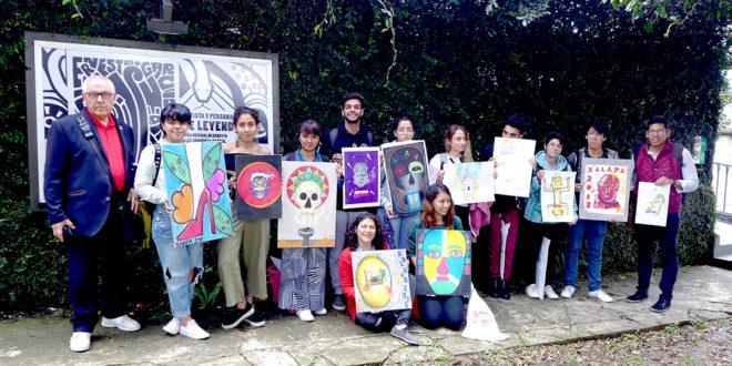 Su studentaisMeksikoje, Xalapa. 2018 m.
