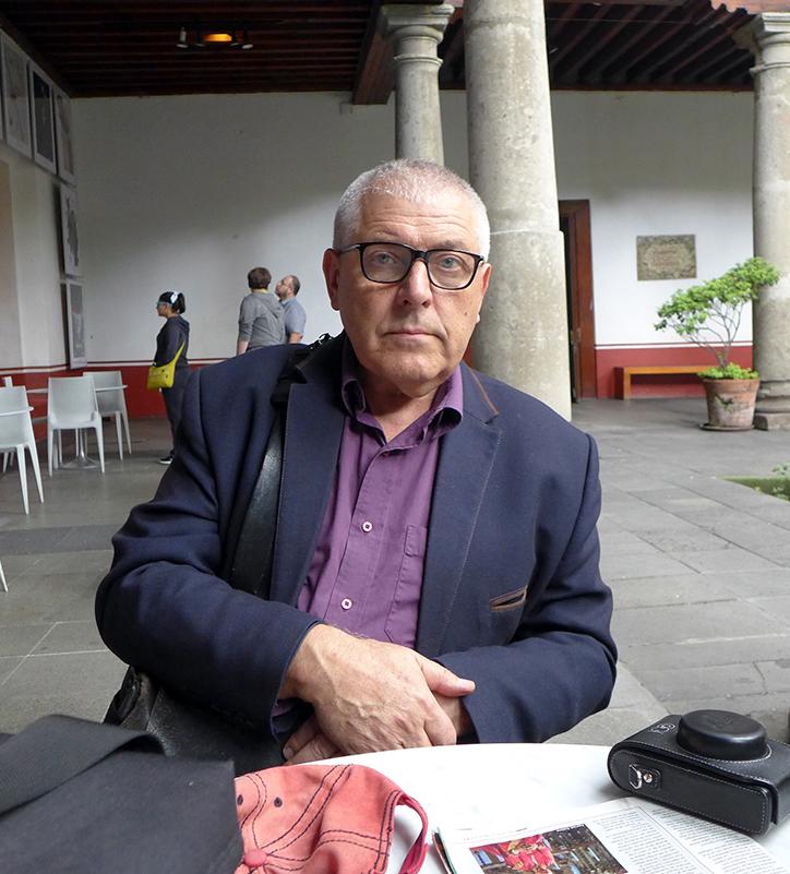 Į Meksikos plakatų bienalę Stasys Eidrgevičius buvo pakviestas kaip vertinimo komisijos narys. 2018 m.