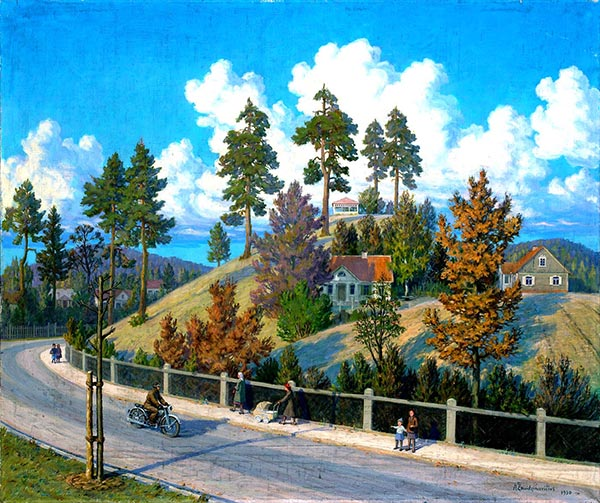 Antanas Žmuidzinavičius (1876–1966). Vilnius. Antakalnis rudenį. 1950 m.