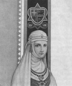 Vytautas' wife Ona, as painted by Kazys Šimonis.