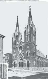St. George Lithuanian Catholic Church in Shenandoah, Pennsylvania. (1916 photograph.)