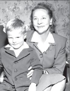 Albina with son David.