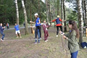 LISS interns participate in team building excersizes.