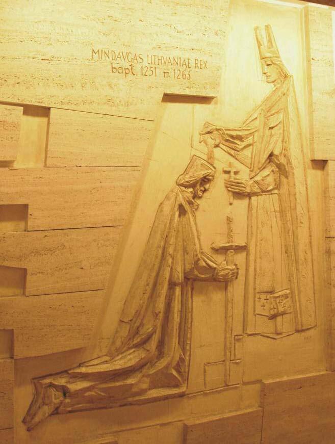 Mater Misericordiae chapel in the Vatican, depicting King Mindaugas.
