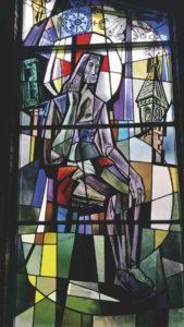 Pensive Christ. Divine Providence Church in Southfield, MI.
