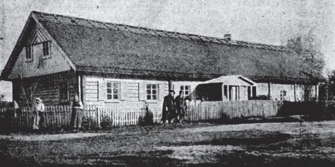 The home of Vincas Kudirka in Paežeriai. Photo from 1911