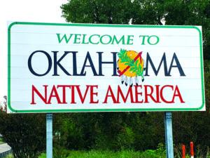 Oklahoma sign.